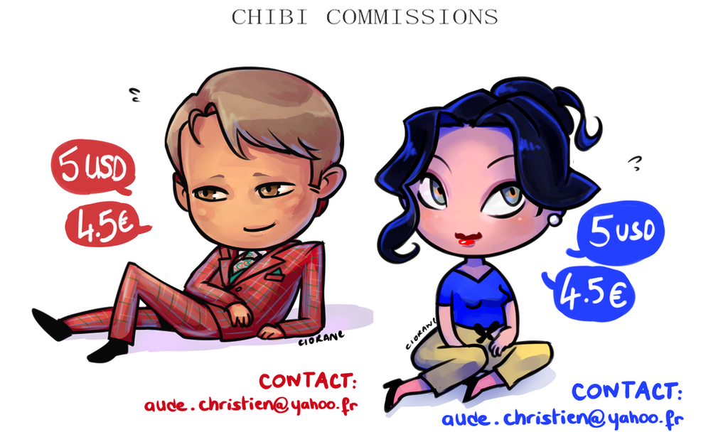 5 USD CHIBI COMMISSIONS by Ciorane