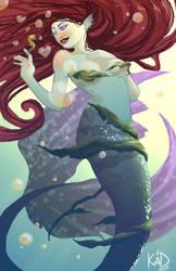 Impossible Romance-Mermaid by aubergineverde