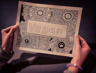 Vegan Coloring Page by Eveint