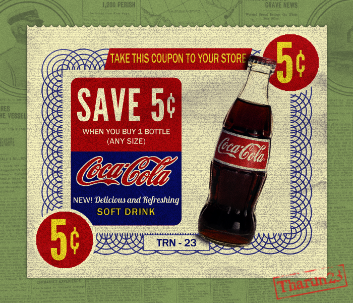 vintage coca cola ad by tharun23 on deviantart. Black Bedroom Furniture Sets. Home Design Ideas