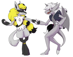 two furries dance and then explode by cadaverhaver
