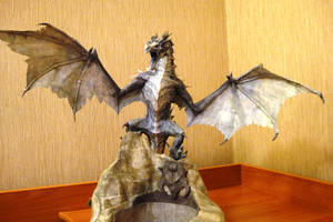 Skyrim Frost dragon papercraft by dmitry280