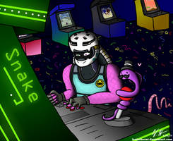 At the Arcade by Lexiathecat