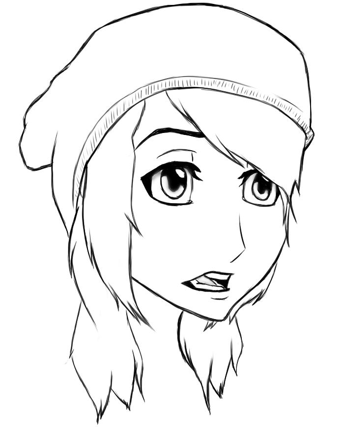 My Hair ~ Anime Sketch by IchiRukiForever134 on DeviantArt