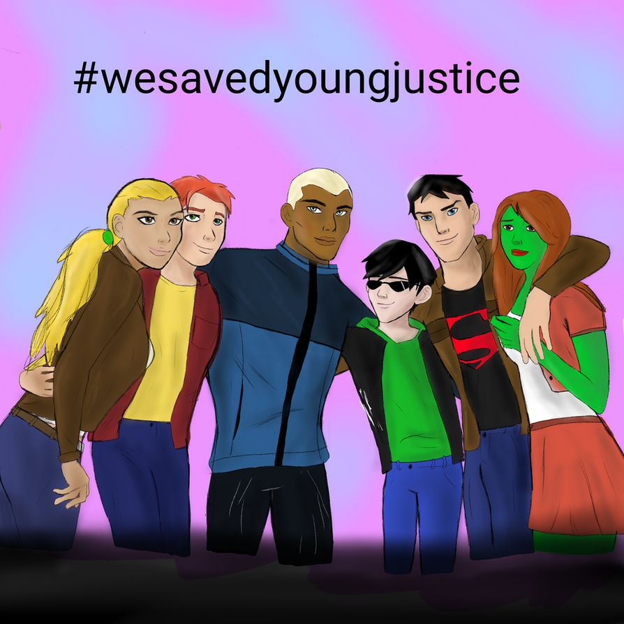 We saved young justice by Rainbowpertyhat