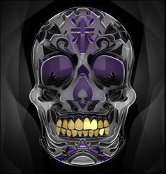 Skull W cross(lw)