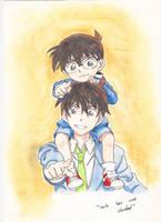 Shinichi y Conan  - una verdad by tantei-fox03
