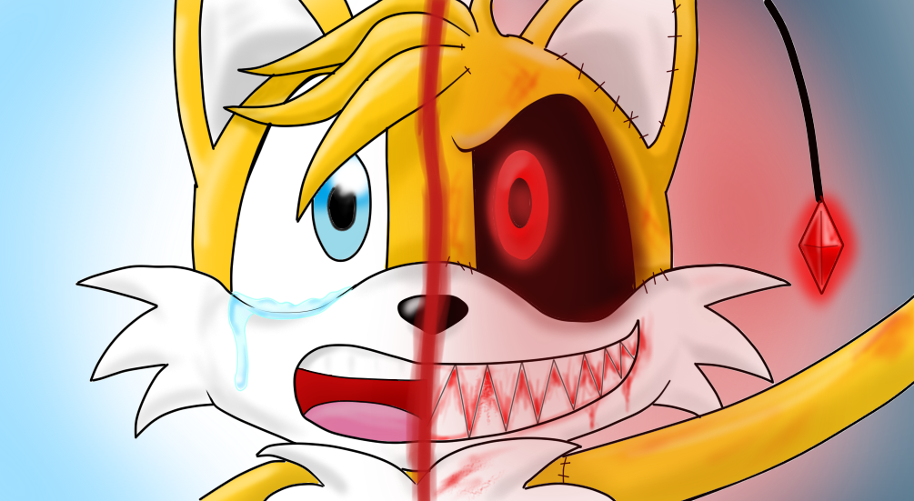 JUST GOLD - Tails Vs Tails Doll by tantei-fox03