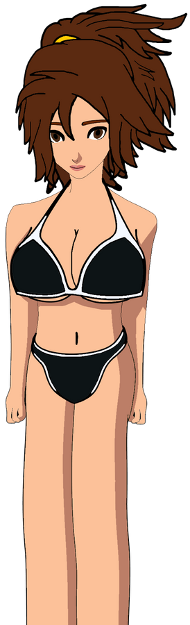 Shannon with Black and White Bikini