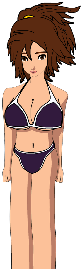 Shannon with White and Violet Bikini