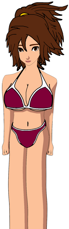 Shannon with White and Red wine Bikini