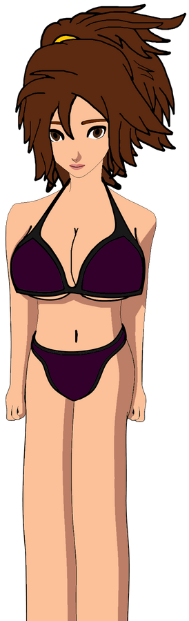 Shannon with Black and Violet Bikini