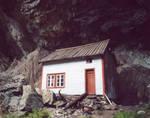 little house under the rocks