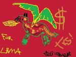 Untitled Drawing By Louis Jean Braye-dajlgw2 Lama by louis-jean-braye