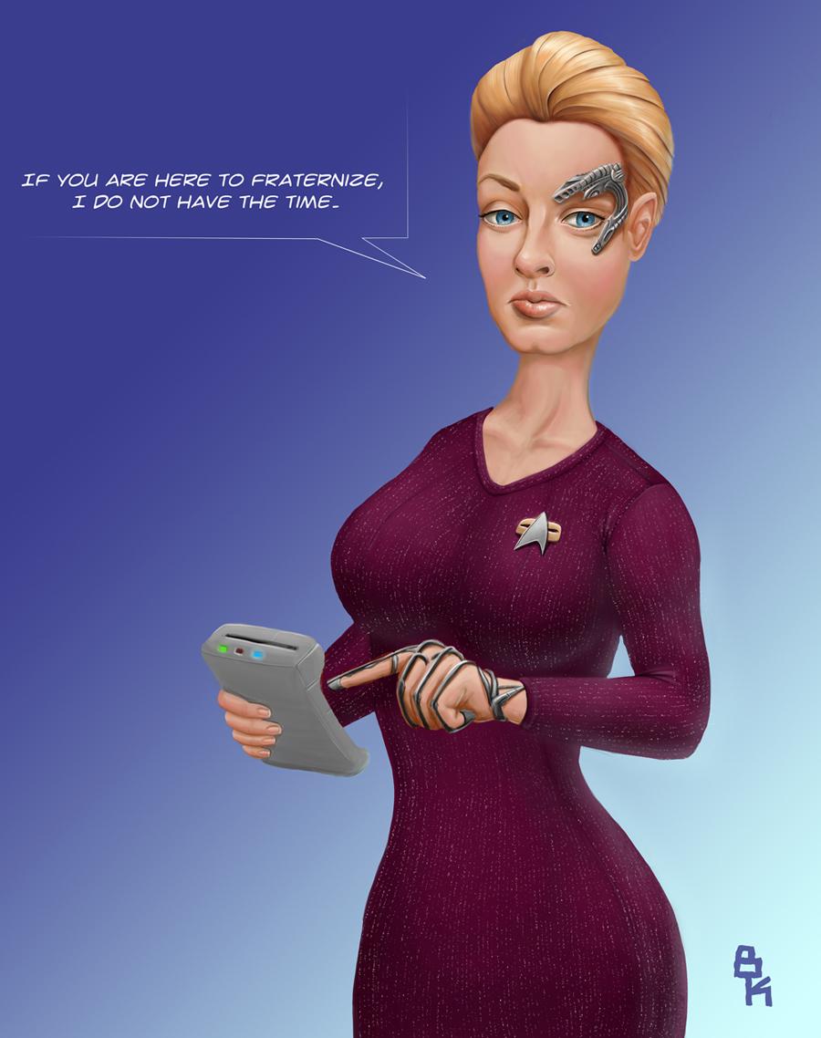 Star trek voyager 7 of 9 by bjornkeks fan art digital art painting