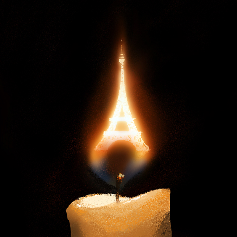 Pray For Paris by PunchingPandas