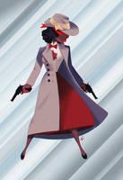 Crimson Avenger by PunchingPandas