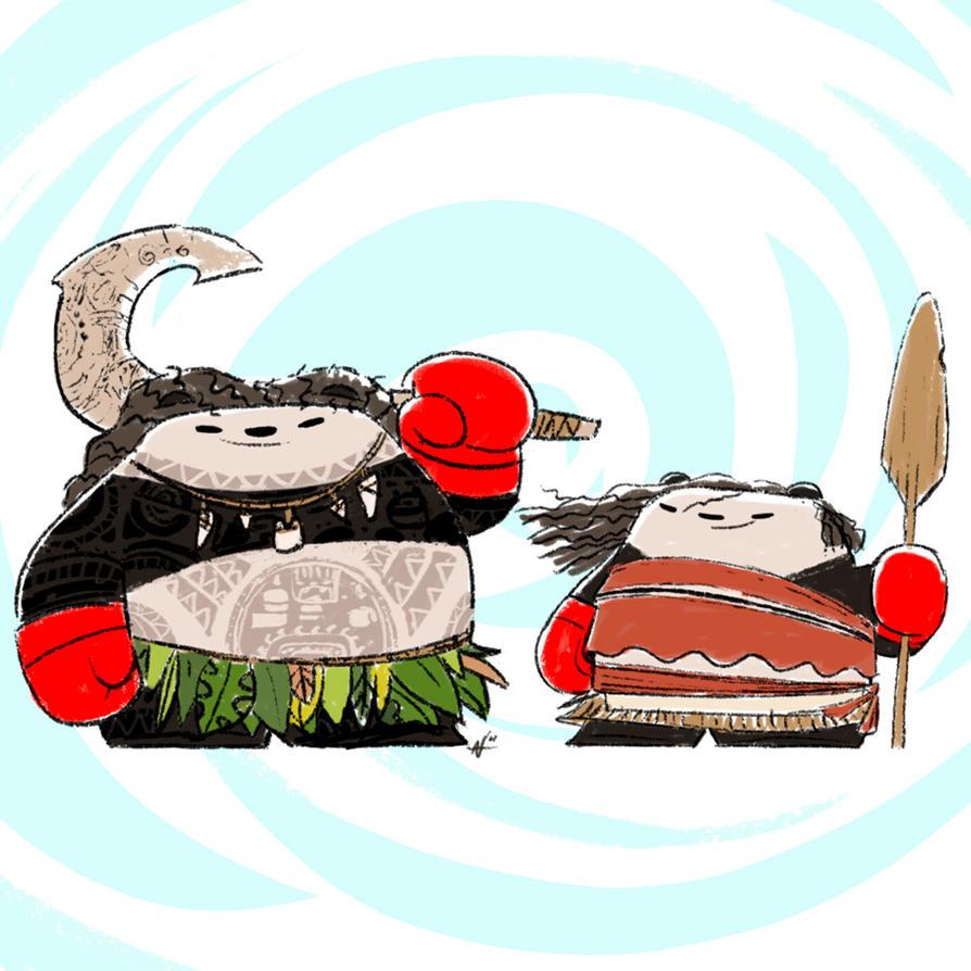 Moana Pandas by PunchingPandas