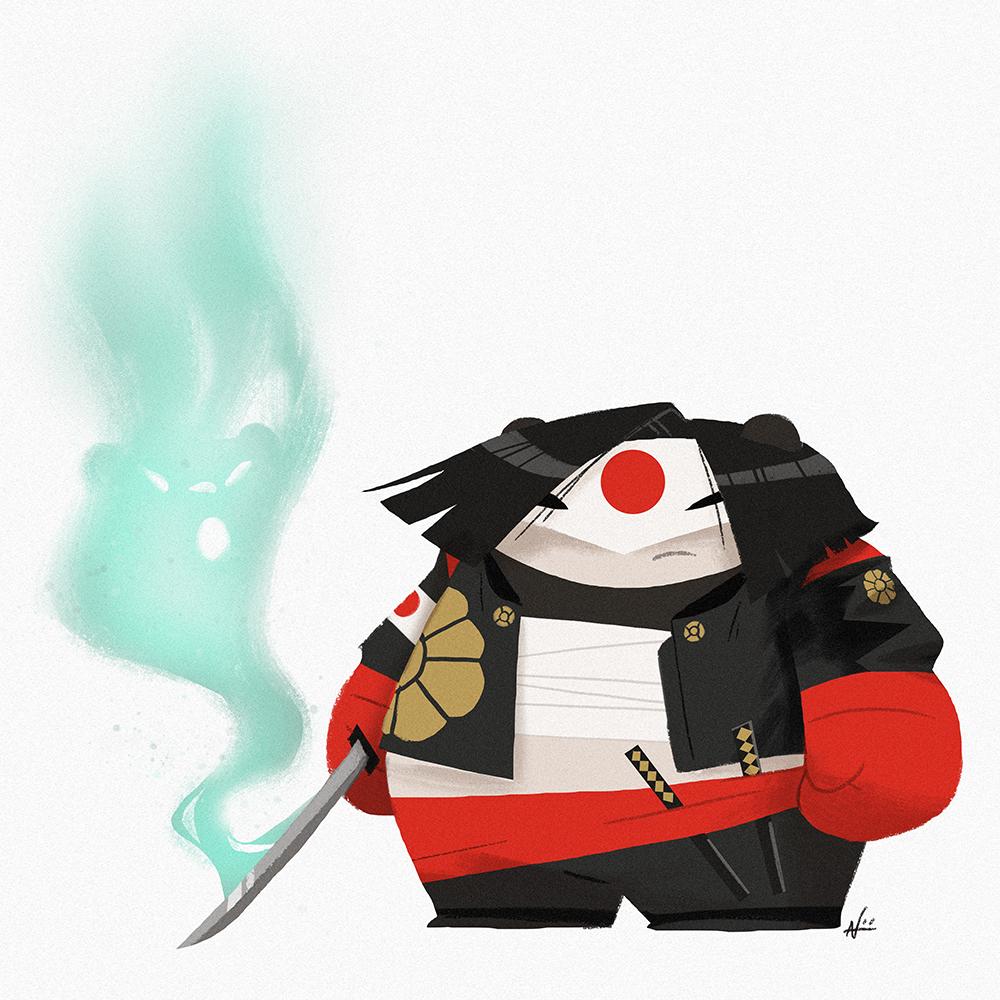Katana Panda by PunchingPandas