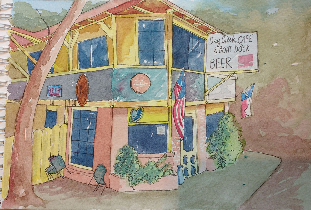 Charming Cafe in Austin TX by jimmylorunning