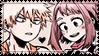 BNHA Stamp: Bakugou x Uraraka 2 by alpakami