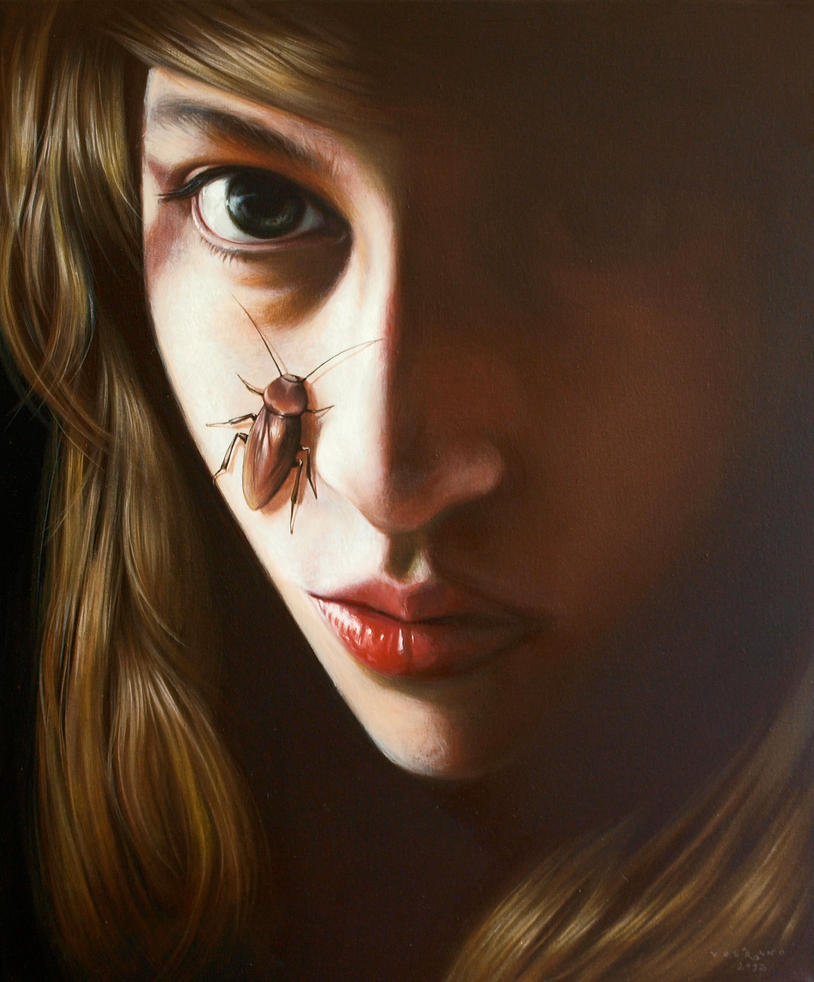 girl with a bug No.4 by volkano-art