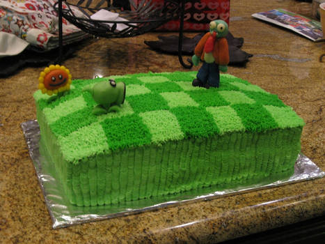 Plants Vz Zombies Cake