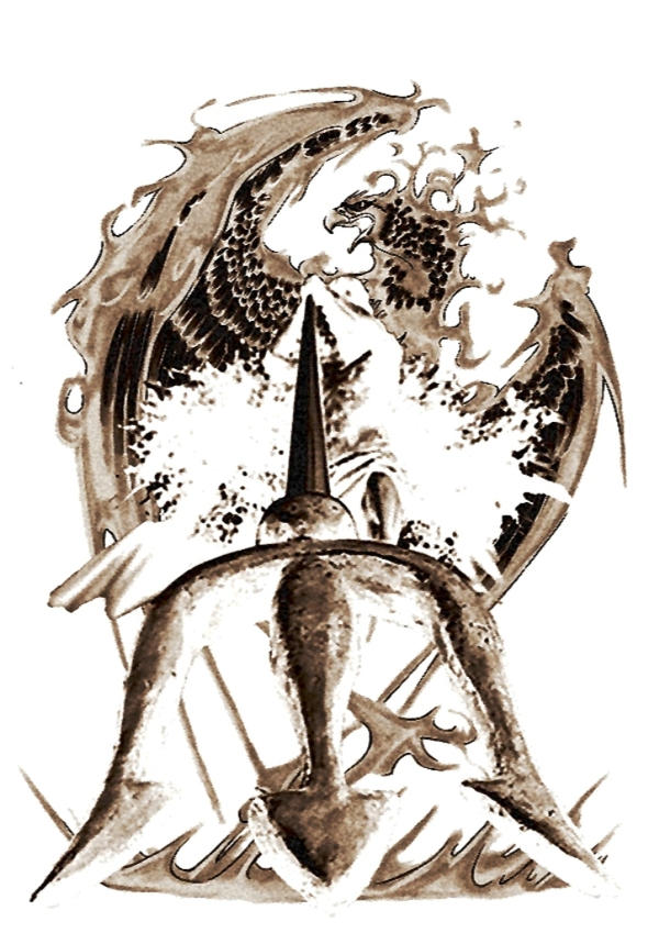 Poseidon Trident Tribal Tattoo Phoenix Rising By