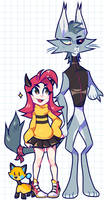 Unlikely Trio by puppsicle