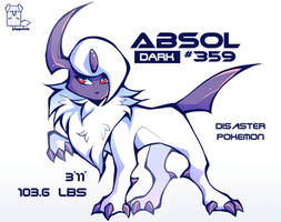 Absol by puppsicle