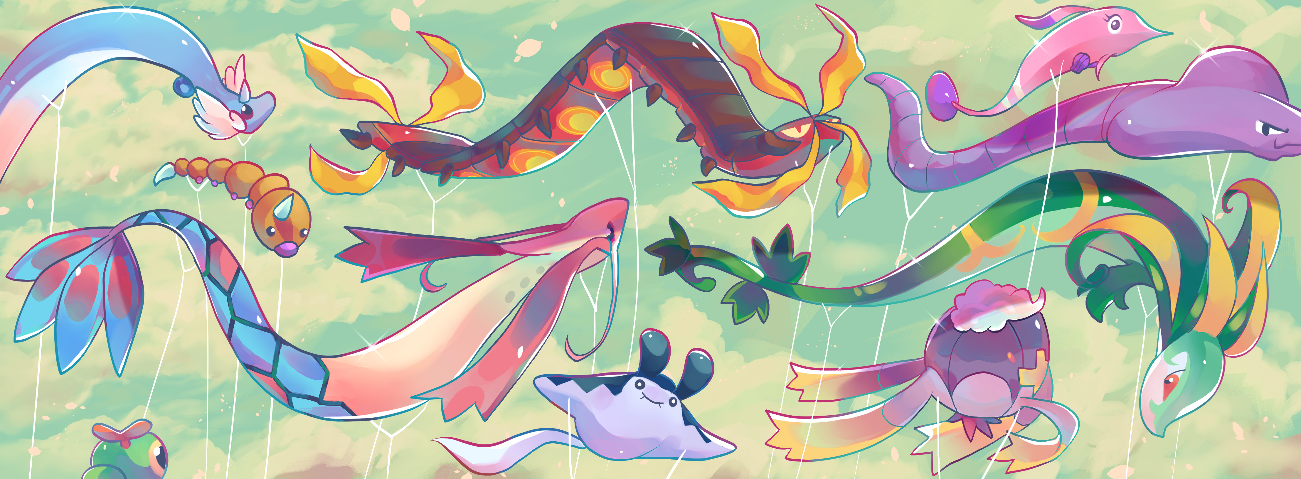 Pokemon Balloon Festival by puppsicle on DeviantArt