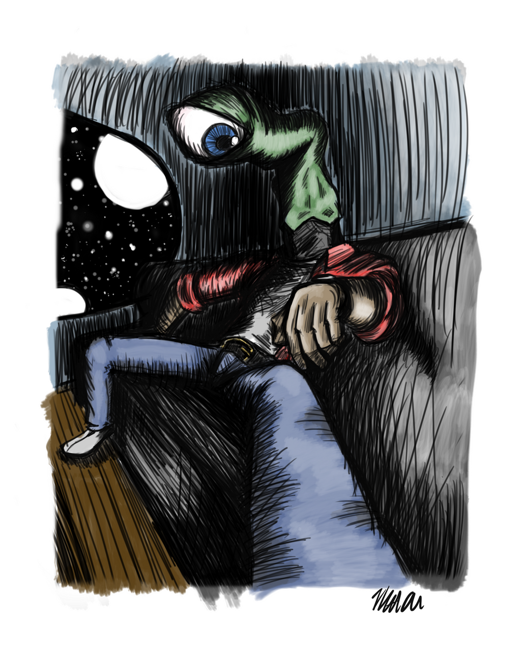 Alien Living Room (color) By Madamz On DeviantArt