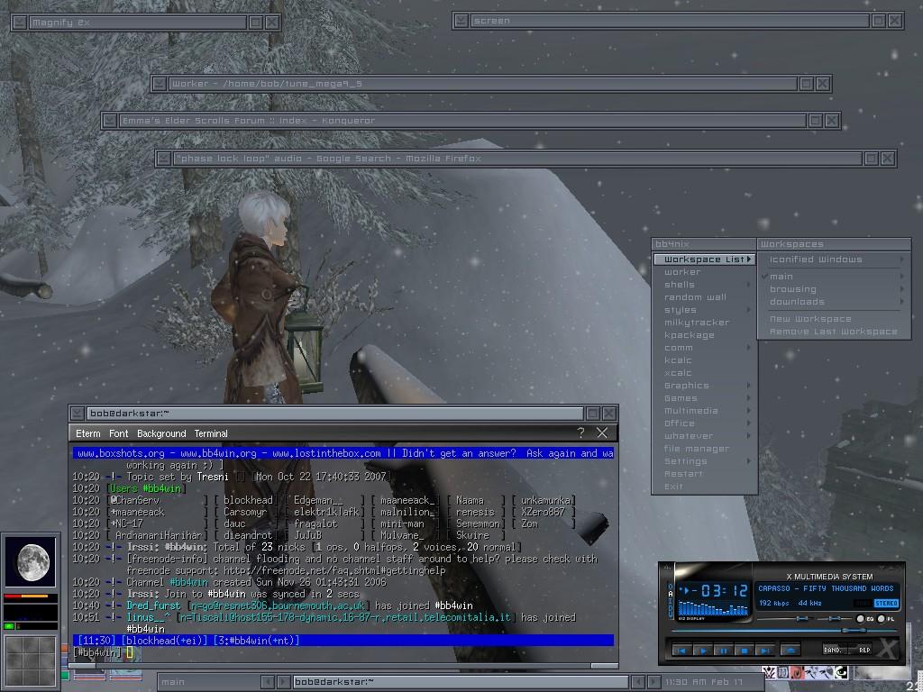 february 2008 linux desktop by blockhead