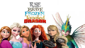 Rise of the Frozen Brave Tangled Dragons - girls