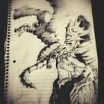 Ornstein and Dragon - Ballpoint Pen - DarkSouls