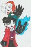 Chibi Rogue and Wanda by peirrot