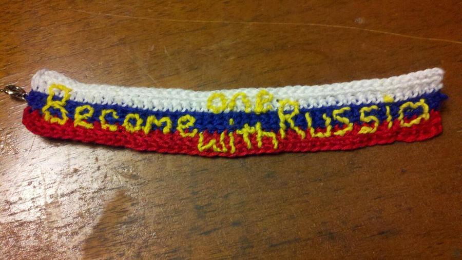 Hetalia Russia Crochet Bracelet by energeticjen