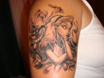 Alice in Wonderland tattoo by lillylil