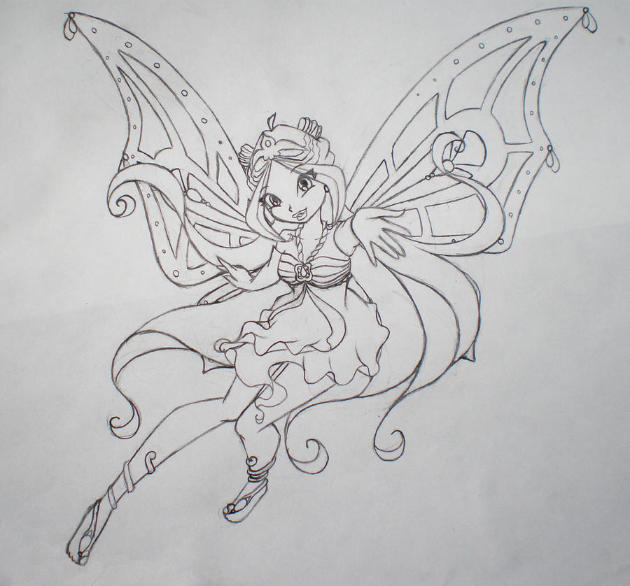 Flower Fairy sketch by...