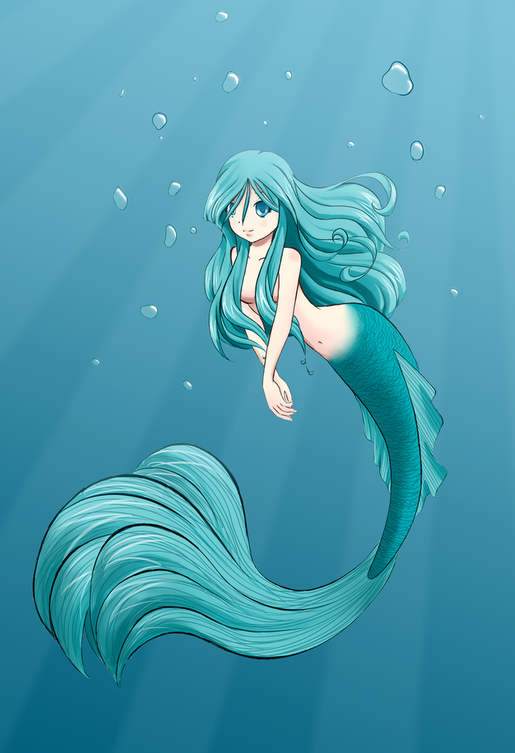 mermaid colored by jakly on deviantart