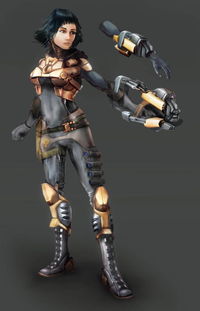 Glove-Gun Hazmat Assault Suit