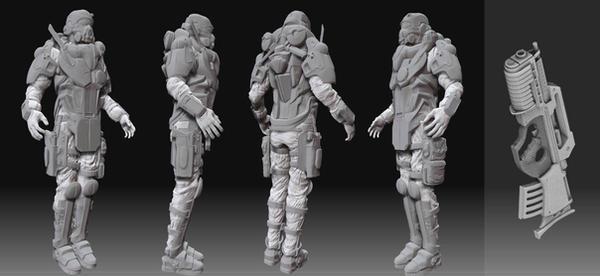 Futuristic Soldier by dominicjan