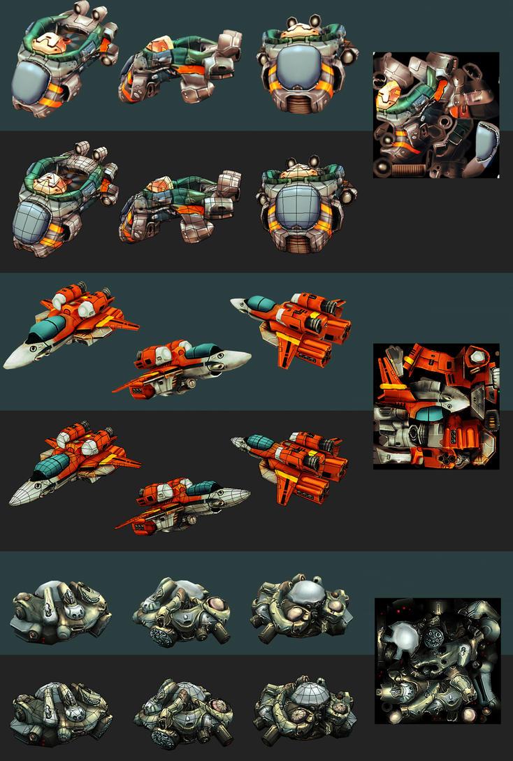 cartoonish spaceships by dominicjan