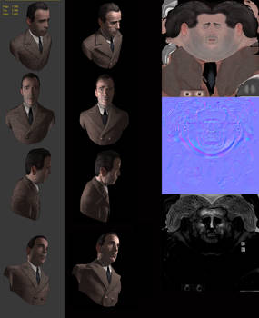 Humphrey Bogart - Low Res with normal map