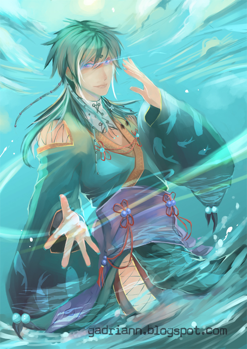 Commission: Hakuto of the Watery by Gadriann