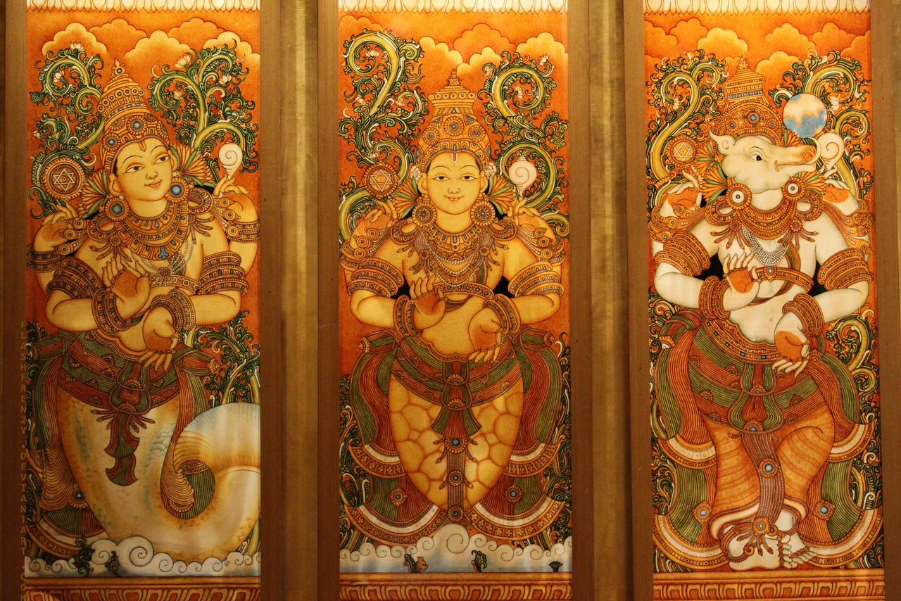 Murals by flashfrenzy on deviantart for Buy kerala mural paintings online