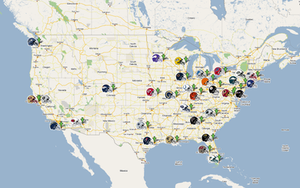 NFL franchise map by smirnoffff