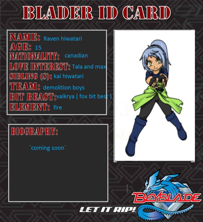 my beyblade oc s beyblader id card by shelly131 on deviantart
