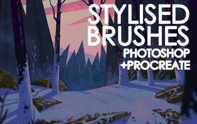 Stylised Brushes For Procreate