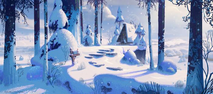 Winter Wonderland - Stylised Illustration Tutorial